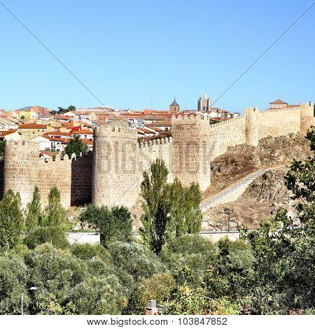 View of Avila, Castile and Leon, Spain