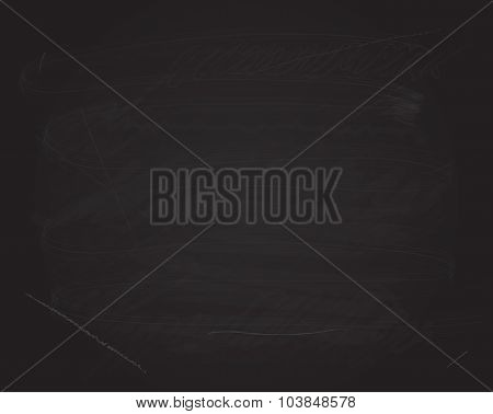 Vector blackboard chalk retro background