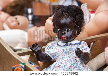 Dolls At Jumble Sale