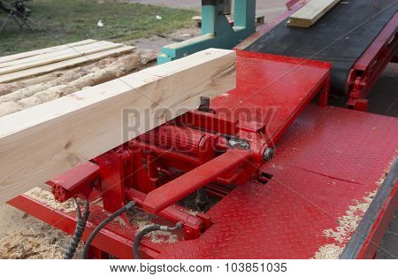 Woodworking The Machine Tool, Wood Factory. Wood Shavings