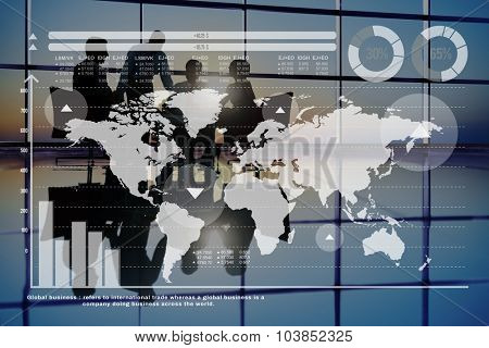 Global Business Graph Growth Finance Stock Market Concept