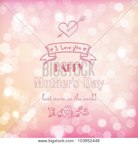 Abstract Vector Background For Mother's Day.