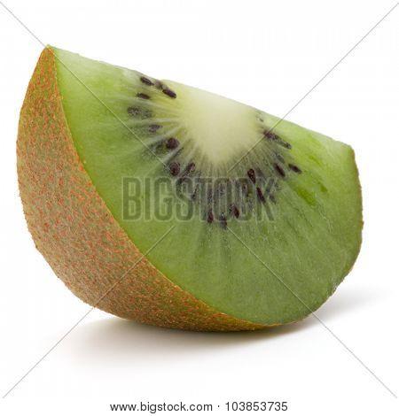 Kiwi fruit slice  isolated on white background cutout