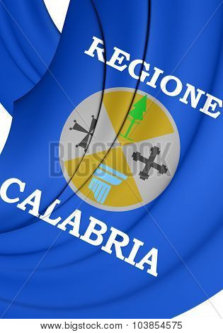 Flag Of Calabria, Italy.