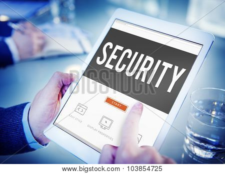 Security Data Protection Policy Private Concept