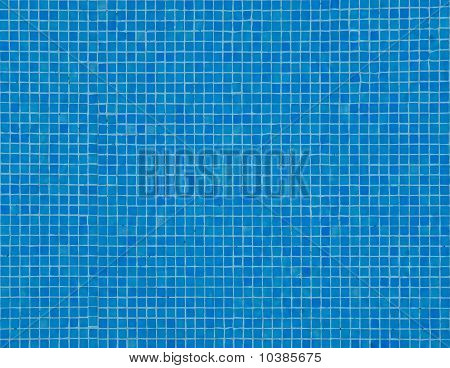 Blue Tiled Floor