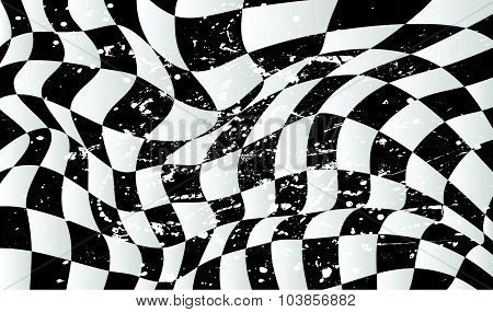 Checkered Race Flag Waveing Vector Background Layout Design