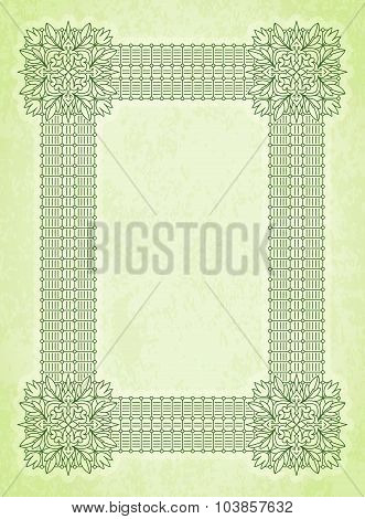 Retro Vintage Greeting Card Or Invitation. Vintage, Decorative Elements On Aged, Grunge Background P