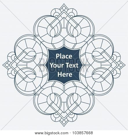Round Lace Frame, White Lace Doily, Greeting Card Or Invitation, With Blank Place For Your Text. Vec