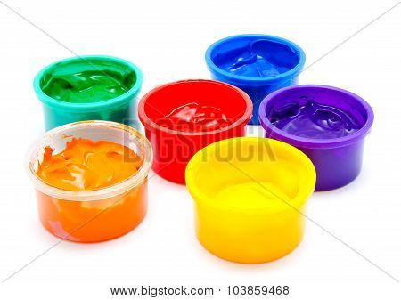 Children Finger Paint Isolated