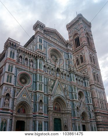 Italy, Florence. The famous Campanile di Giotto