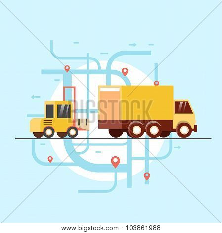 Freight will ship the goods in the truck