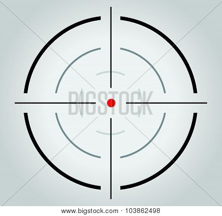 Crosshair reticle viewfinder target graphics vector symbol