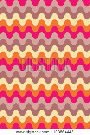 Vector modern seamless colorful geometry pattern waved lines color abstract