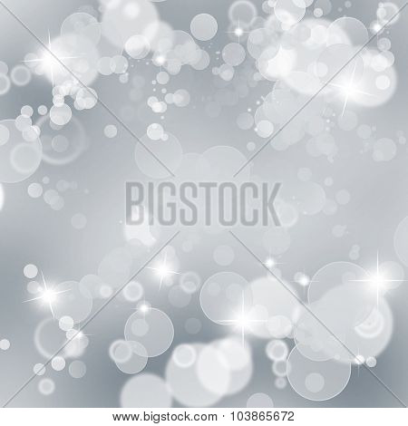 Abstract bokeh circles and stars background