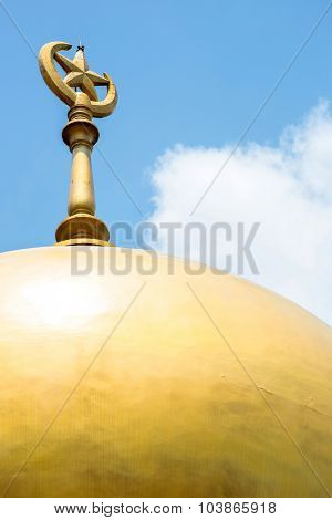 Singapore mosque tower at musjid Sultan