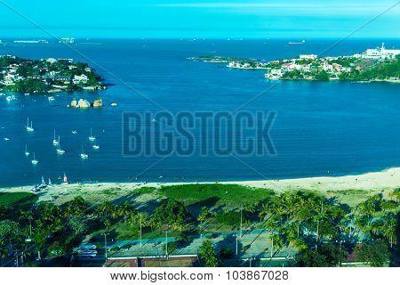 Praia do Canto (Canto Beach) in Vitoria, Espirito Santo, Brazil