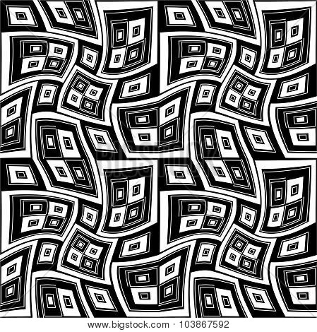 Vector Modern Seamless Geometry Pattern Twisted