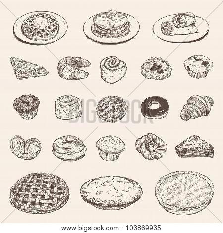 Vintage breakfast collection for your restaurant design
