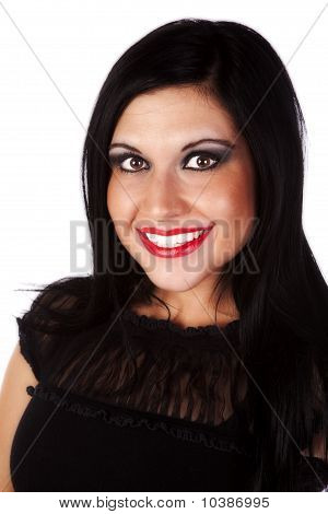 Portrait Dark Hair Smile