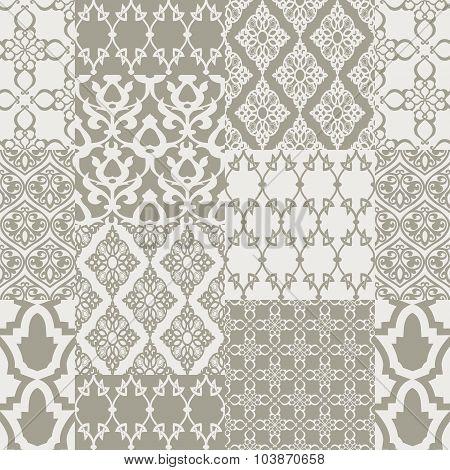 Seamless patternwith oriental motif.