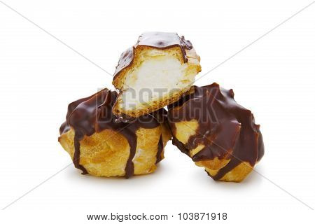 Eclairs with chocolate .