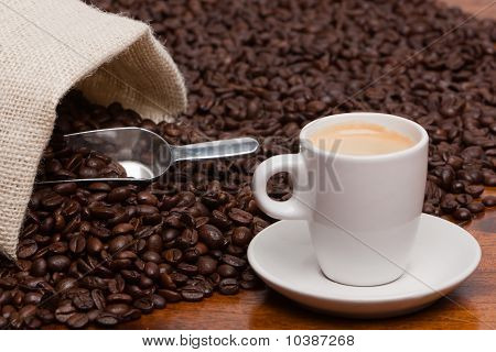 Espresso And Coffee Beans
