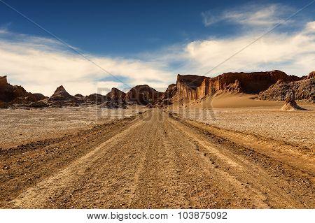 Dirt Road in the Atacama Desert