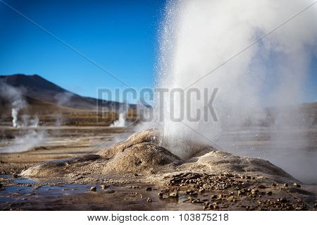 Geyser in the Atacama Desert