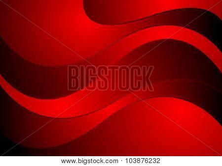 Dark red waves corporate design. Vector background