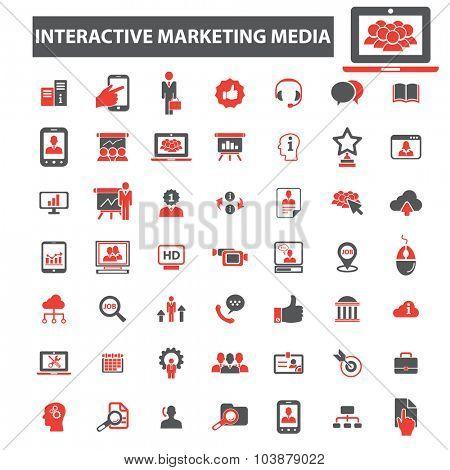 interactive education media icons