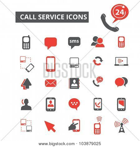 call service icons