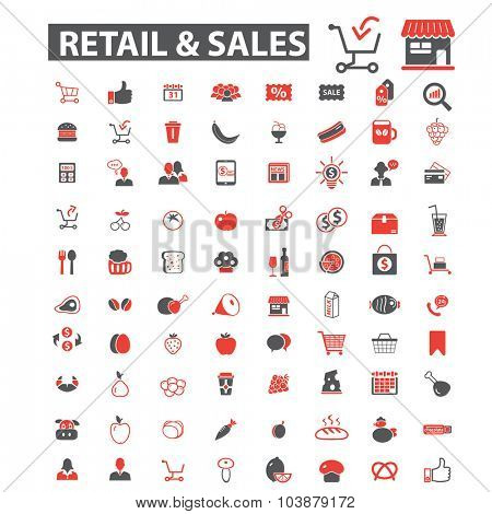 retail, shop icons