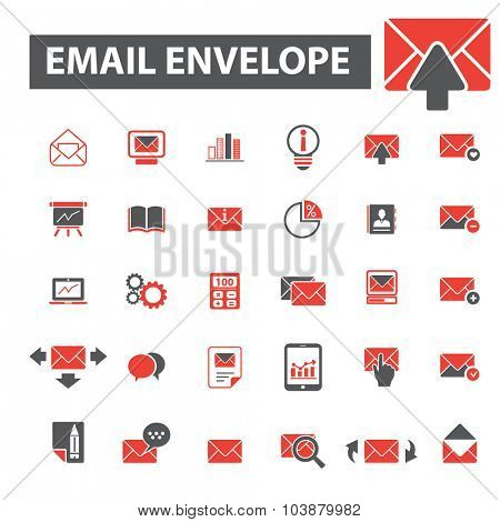 mail, envelope icons