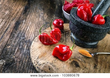 Habanero Red - Very Strongly Hot Pepper