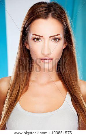Long Hair Brunette Woman