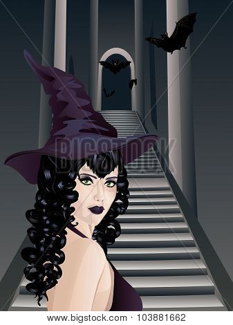 Gothic Stairs And Witch