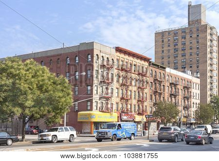 Street In Harlem District.