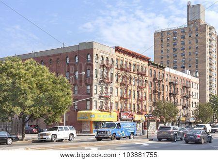 Street In Harlem District.