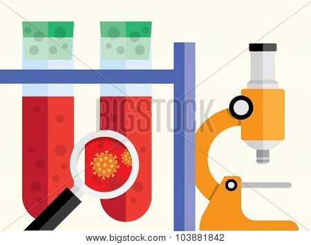 medical research background.