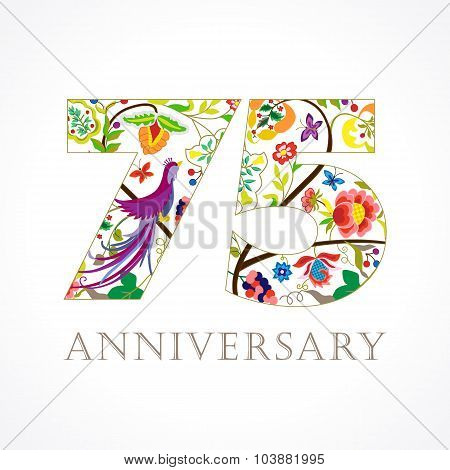 75 anniversary ethnic numbers