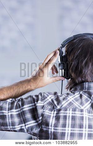 Man Singer Rehearsing .