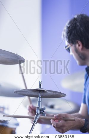 Musician And Drums