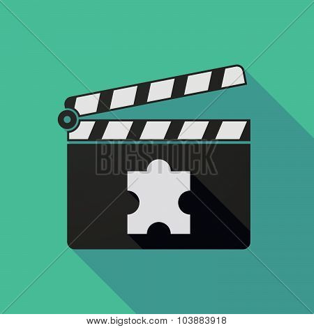 Long Shadow Clapper Board With A Puzzle Piece