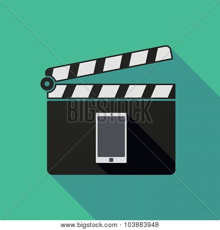 Long Shadow Clapper Board With A Smart Phone
