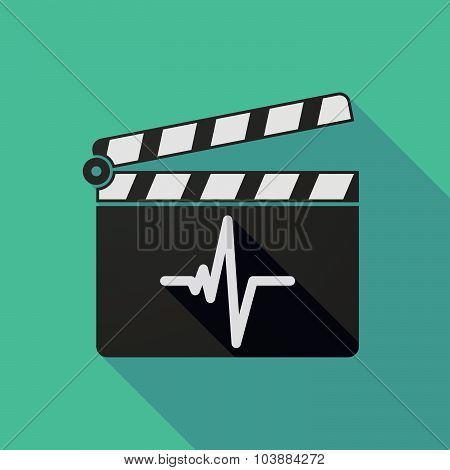 Long Shadow Clapper Board With A Heart Beat Sign