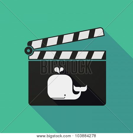 Long Shadow Clapper Board With A Whale