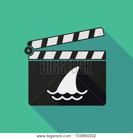 Long Shadow Clapper Board With A Shark Fin