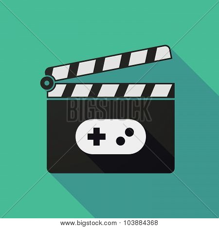 Long Shadow Clapper Board With A Game Pad