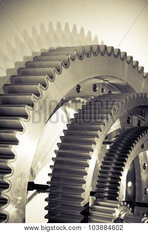 gears, nuts and bolts, great technology background or texture